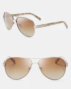 TORY BURCH Polarized Aviator Sunglasses, 57mm.  toryburch  57mm. Luciana  Sanchez · óculos de sol 055a7434d8