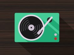 2d motion graphic design gifs Television / Turntable by Dennis Hoogstad Motion graphics gifs & animated vectors
