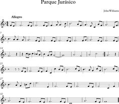 Parque Jurásico Violin Songs, Violin Sheet Music, Song Notes, Jurassic Park World, Recorder Music, Trombone, Teaching Music, Music Lessons, Education