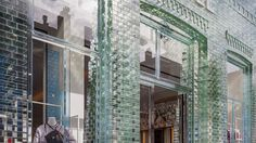 Dutch firm MVRDV was determined to turn a historic townhouse into a modern storefront without completely wiping out the character of the original architecture. Their solution? Durable glass bricks.