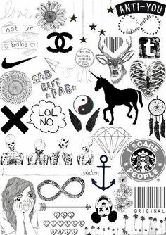 Wallpaper preto e branco aesthetic 42 ideas Tumblr Drawings, Cute Drawings, Tumblr Stickers, Cute Stickers, Tumblr Wallpaper, Iphone Wallpaper, Desktop Backgrounds, Tumblr Transparents, Tumblr Png