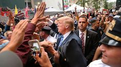 10/09/16 Ahead Of Presidential Debate, Can Donald Trump Apologize For Lewd Comments? : NPR  Donald Trump greets supporters outside of Trump Towers in Manhattan October 8, 2016 after a 2005 video revealed lewd comments Trump made about women. Spencer Platt/Getty Images