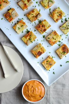 Spanish tapas style Tortilla Española Bites with @presidentcheese  Manchego from Always Order Dessert #artofcheese