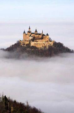 Castle in the clouds - Holenzulen castle, Stuttgart, Geemany