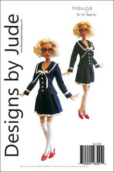 dae77638ca Manga Outfit Pattern for 16 Deja Vu Dolls Tonner by designsbyjude Clothing  Patterns, Doll Clothes