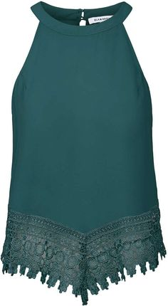 Womens bottle green top from Topshop - £21 at ClothingByColour.com