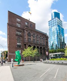 The Cooper Union's Foundation Building has anchored the north end of the square since 1859, Manhattan, NY (09/16/2016)