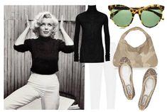 Marilyn Monroe inspired black & white outfit