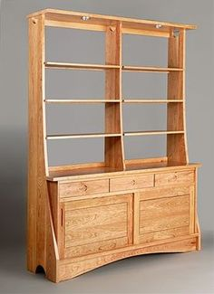Custom Made Curved Sided Book Case