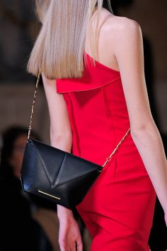 A little crossbody bag at Roland Mouret Fall 2014 - Best Runway Bags Paris Fashion Week Bags #PFW
