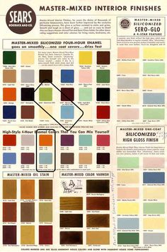 Mid-Century Modern colours, originally from Retro Renovation.   Repinned by Secret Design Studio, Melbourne