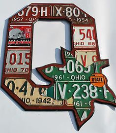 Block O Folk Fan Art License Plate Ohio State National Champions Wall Hang | eBay