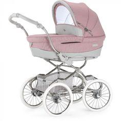 52576fb5c89 Hoe tof is deze Bebecar Stylo Class El Cotton Candy? #kinderwagen #vintage  #roze #stijlvol Zie www.babyline.nl