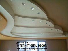 gypsum ceiling designs, multi-level suspended ceiling, multilevel ceiling with spot light False Ceiling For Hall, Simple False Ceiling Design, Bedroom False Ceiling Design, Interior Design Living Room, Gypsum Design, Gypsum Ceiling Design, Ceiling Art, Ceiling Ideas, Plafond Staff