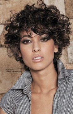 cool  Hairstyles for short curly hair