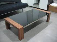 glass wood coffee table - Buscar con Google