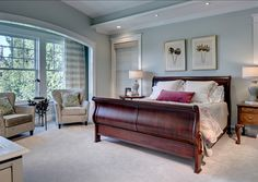 "Master Bedroom Paint Color: ""Sherwin Williams SW 6204 Sea Salt"""