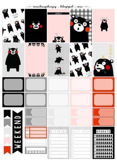 Counting Sheepy: Free Planner Printables - Kumamon