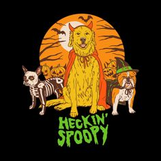 """""""Heckin' Spoopy"""" by Hillary White Hallloween dogs in costume Spooky Halloween, Vintage Halloween, Happy Halloween, Halloween Decorations, Halloween Birthday, Fall Decorations, Birthday Fun, Halloween Crafts, Fall Wallpaper"""