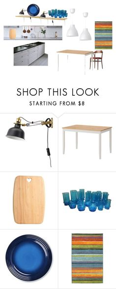 """""""Kitchen - dining room Draft"""" by ilkovats on Polyvore featuring interior, interiors, interior design, home, home decor, interior decorating, Anchor Hocking, Williams-Sonoma, Lampara and dining room"""