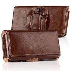 iPhone 8 Belt Case,Horizontal Premium Genuine Leather Bel...