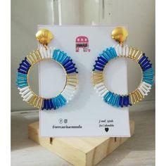 Beaded Earrings Patterns, Diy Earrings, Chandelier Earrings, Beading Projects, Brick Stitch, Diy Accessories, Bead Weaving, Diy Jewelry, Mandala