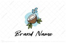 Juice Branding, Logo Branding, Smoothie Mix, Smoothies, Coco Oil, Cool Designs, Logo Design, Coconut, Tropical