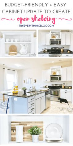 Before and After Painting Kitchen Cabinets White - Reveal 4a0d6443c641