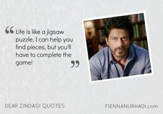 dear-zindagi-quotes-02 Unique Quotes, Inspirational Quotes, Dear Zindagi Quotes, Filmy Quotes, True Friendship Quotes, Qoutes, Life Quotes, Bollywood Quotes, Deep Thought Quotes