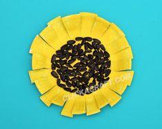 Paper Plate Sunflower Craft -Pretty Paper Plate Ideas for Kids Sunflower Crafts Preschool Art Activities, Preschool Projects, Daycare Crafts, Toddler Art, Toddler Crafts, Crafts For Kids, Arts And Crafts, Spring Theme, Autumn Theme