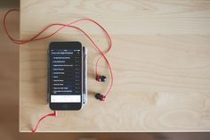 Free Image: Playing Music with Red Earphones | Download more on picjumbo.com!