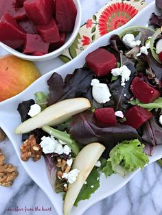 Pickled Beet Salad with Pears, Walnuts & Goat Cheese | An Affair from the HeartFacebookGoogle+InstagramPinterestStumbleUponTwitter