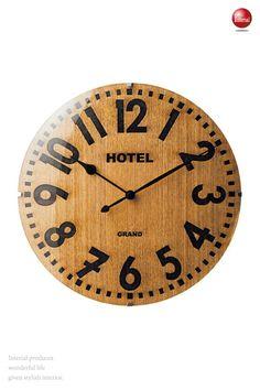 木&ガラス製・インテリア壁掛け電波時計