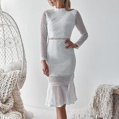 Name Sexy Lace Backless Long Sleeve Bodycon Dress Brand Corebeau SKU Gender Women Style Elegant/Sexy/Fashion Type Bodycon? Elegant Dresses, Sexy Dresses, Curvy Dress, Types Of Fashion Styles, Dress Brands, Casual Outfits, Casual Clothes, Lace Dress, Gender