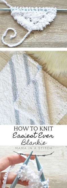 how to knit a super simple baby blanket