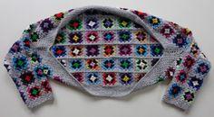 Granny square shrug / bolero-vestje tutorial door Gingini Ideaal vestje voor in de auto en op vakantie, maar ook leuk voor gewoon t...