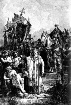 The Saxons were a confederation of Germanic tribes on the North German plain, who during the Middle Ages migrated to the British Isles and formed part of the Anglo-Saxons. The Saxons mainly inhabited the Southern region of the British Isles, whereas the Angles (the word English is derived from this) settled the center (Mercia), and the Jutes settled to the North. The Saxons still in Germania, in 555, lost decisively to Clothar I and the Franks.