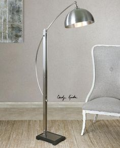 Malcolm Brushed Nickel Floor Lamp : 9PXNX | Bright Light Design Center
