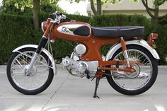 A sweet 1965 Honda before and after. – Motorcycle Photo Of The Day Classic Honda Motorcycles, Antique Motorcycles, Honda Bikes, Honda Motorbikes, Honda Motors, Classic Motors, Classic Bikes, Honda S90, Soichiro Honda