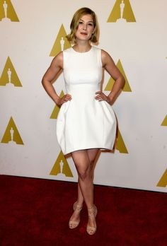 Rosamund Pike in Vionnet at the 87th Academy Awards Nominee Luncheon