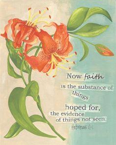 Art Print - 8x10 - Bible Scripture, Faith,  Floral, Contemporary Design - Ready to Frame - Summertime