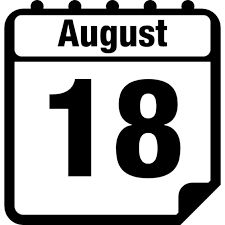 AUGUST 18 Daily Calendar, Calendar Pages, August Month, Symbols, Letters, Logos, Google Search, Month Of August, Logo