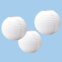 Lampions weiß, 24 cm, 3 Stk.