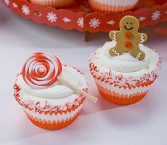 Autumn Carpenter Gingerbread Man Cupcakes
