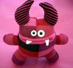 pink sock monster by katedowding, via Flickr