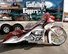 Sick Bagger with a fantastic paint job and our Chrome Twisted Steel wheel. The…