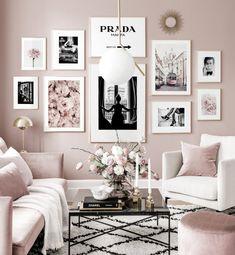 Room Ideas Bedroom, Diy Bedroom Decor, Home Decor, Decor Crafts, Wall Decor, Home Living Room, Living Room Designs, Living Room Gallery Wall, Gallery Walls