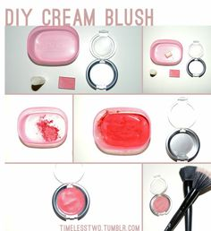 This is a super easy tutorial on how to make your own cream blush. It only takes a few minutes to make and you probably already have all the things needed at home. Time: Less than 10 minutes to make. Homemade Blush, Homemade Skin Care, Homemade Beauty Products, Homemade Moisturizer, Tinted Moisturizer, Diy Beauty, Beauty Hacks, Beauty Tips, Cream Blush
