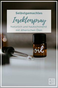 Ein DIY-Insektenspray ist gesünder und besser für deine Haut. Die ätherischen Öle vertreiben Mücken auf natürliche Art und Weise. Lerne, welche Öle am besten helfen.  Insektenspray selber machen | Insektenspray DIY | Insektenspray gegen Mücken | Insektenspray ohne Chemie | Insektenspray Citronella | Teebaumöl | Insektenspray Ersatz | Insektenspray pflanzlich Naturkosmetik | Nachhaltigkeit | Ätherische Öle | Zero Waste | Sich gutes tun Citronella, Eco Beauty, Vegan, How To Make, Lotions, Young Living, Doterra, Zero, Do Good
