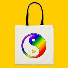 Rainbow Yin Yang Bags by SpeakItDesigns